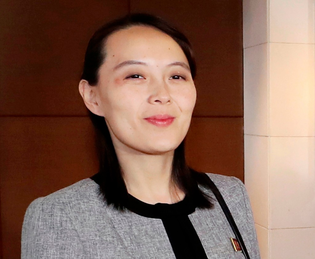 FILE - In this Feb. 11, 2018, file photo, Kim Yo Jong, sister of North Korean leader Kim Jong Un, arrives to attend a luncheon with South Korean Prime...