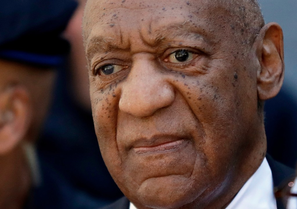 Actor and comedian Bill Cosby departs the courthouse after he was found guilty in his sexual assault retrial, Thursday, April, 26, 2018, at the Montgo...