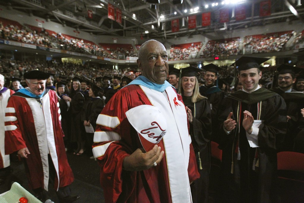 FILE - In this May 12, 2011 file photo, comedian Bill Cosby appears at Temple University's commencement in Philadelphia. On Thursday, April 26, 2018, ...