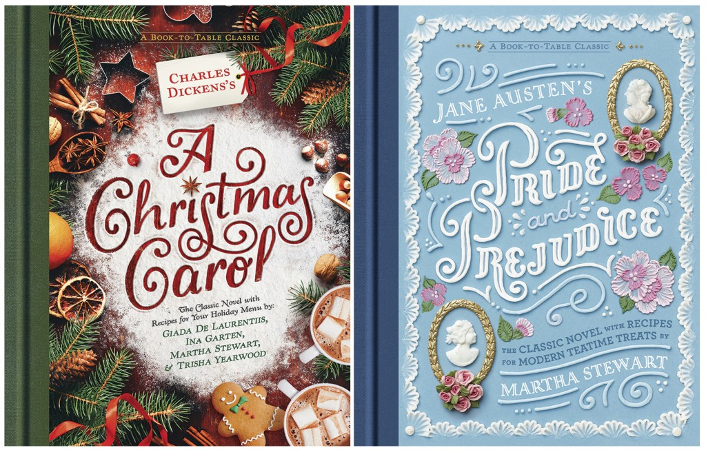 """This photo combination shows """" Charles Dickens' A Christmas Carol: The Classic Novel with Recipes for Your Holiday Menu by Giada de Laurentiis, Ina Ga..."""