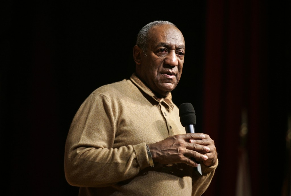 FILE - In this May 16, 2006 file photo, Bill Cosby speaks to an audience on the campus of University of the District of Columbia in Washington. On Thu...