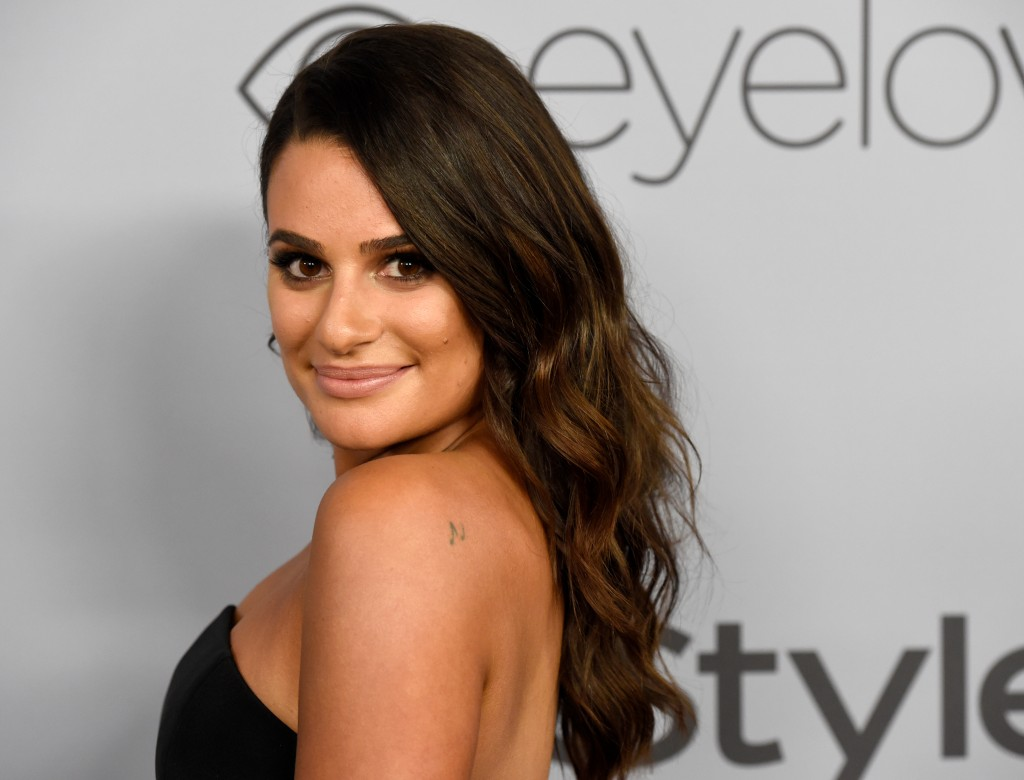 File- This Jan. 7, 2018, file photo shows Lea Michele arriving at the InStyle and Warner Bros. Golden Globes afterparty at the Beverly Hilton Hotel in...