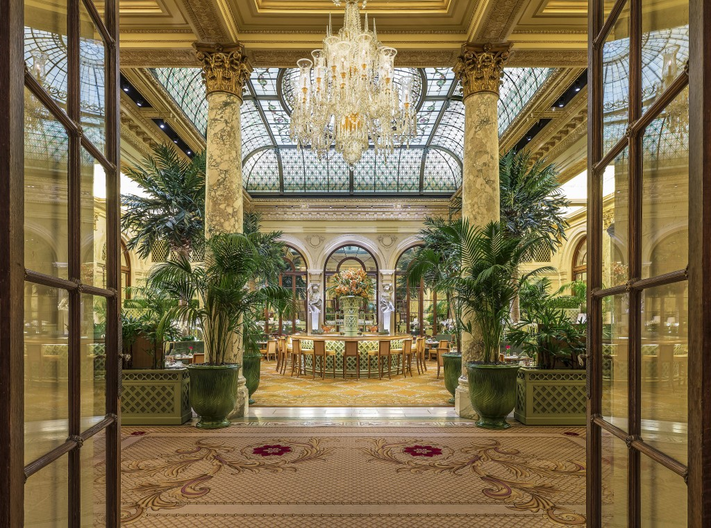 This undated photo provided by the Plaza in New York City shows the hotel's Palm Court, known for its elaborate afternoon teas. On May 19, the hotel i...