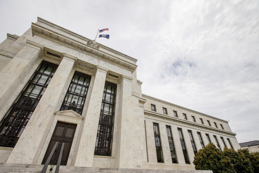 FILE - This June 19, 2015, file photo shows the Marriner S. Eccles Federal Reserve Board Building in Washington. The central bank is meeting this week...