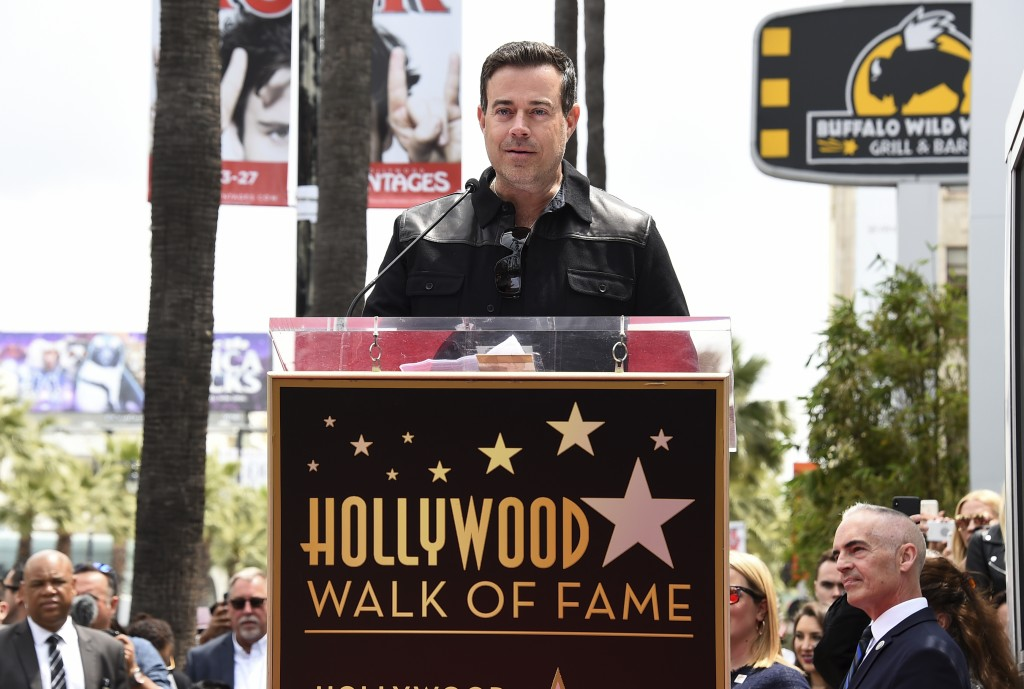 Carson Daly attends a ceremony honoring NSYNC with a star on the Hollywood Walk of Fame on Monday, April 30, 2018, in Los Angeles. (Photo by Jordan St...
