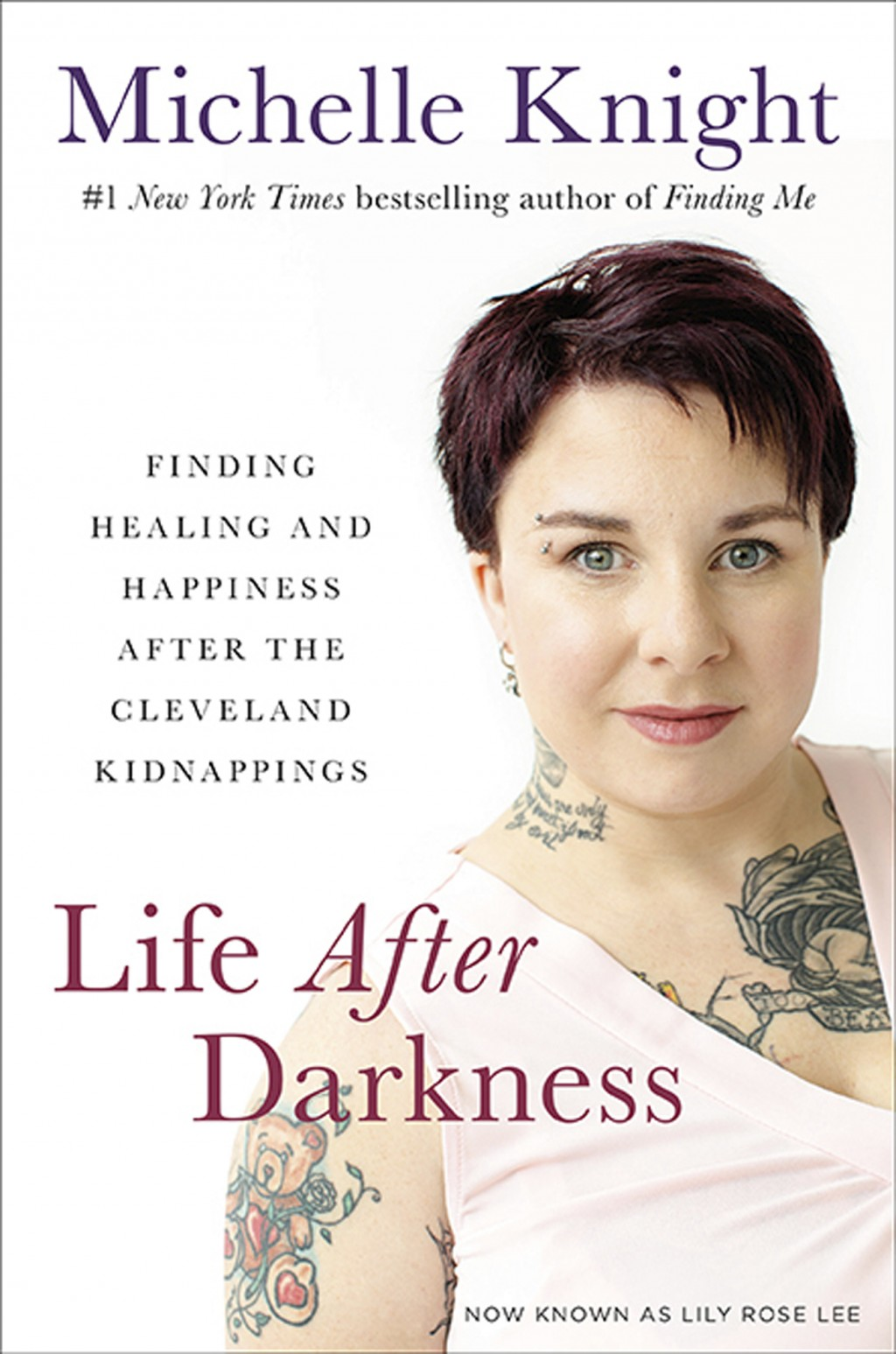 This image provided by Hachette Books shows the cover of Michelle Knight's book Life After Darkness. Five years after being rescued from a decade-long...
