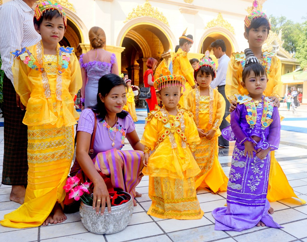 This Nov. 4, 2017, photo shows traditional Burmese religious ceremony taking place in the Mahamuni Monastery in Mandalay. As China's shadow grows in S...