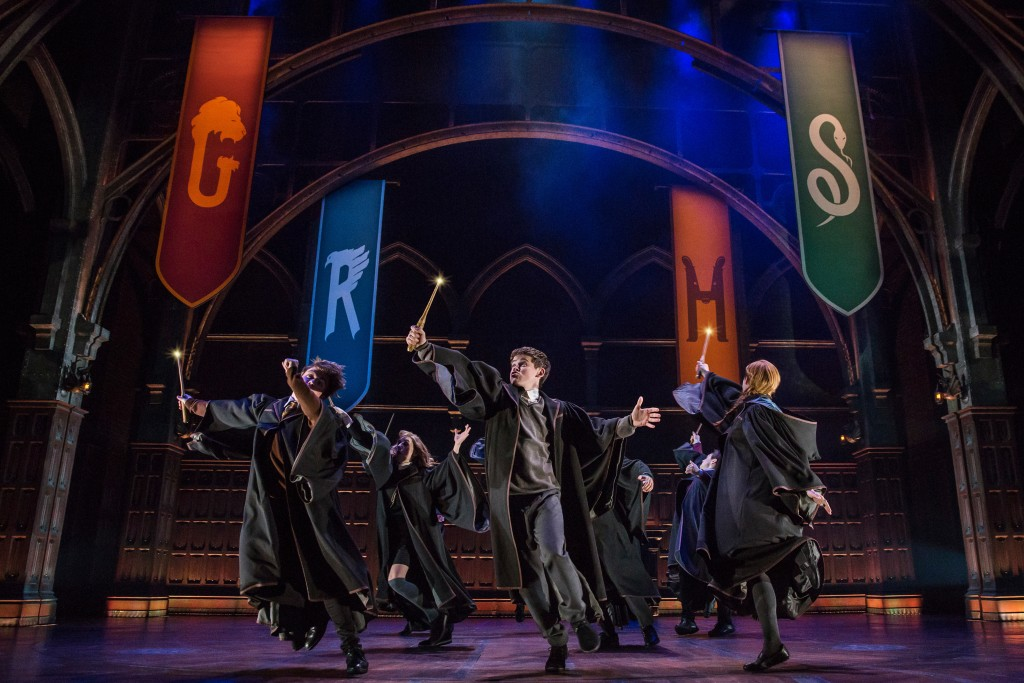"""This image released by Boneau/Bryan-Brown shows a scene from the production of""""Harry Potter and the Cursed Child,"""" in New York. The Tony Awards race i..."""