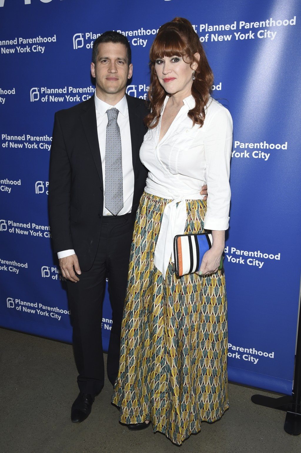 Panio Gianopoulos, left, and Molly Ringwald attend the Planned Parenthood Benefit Gala at Spring Studios on Tuesday, May 1, 2018, in New York. (Photo ...