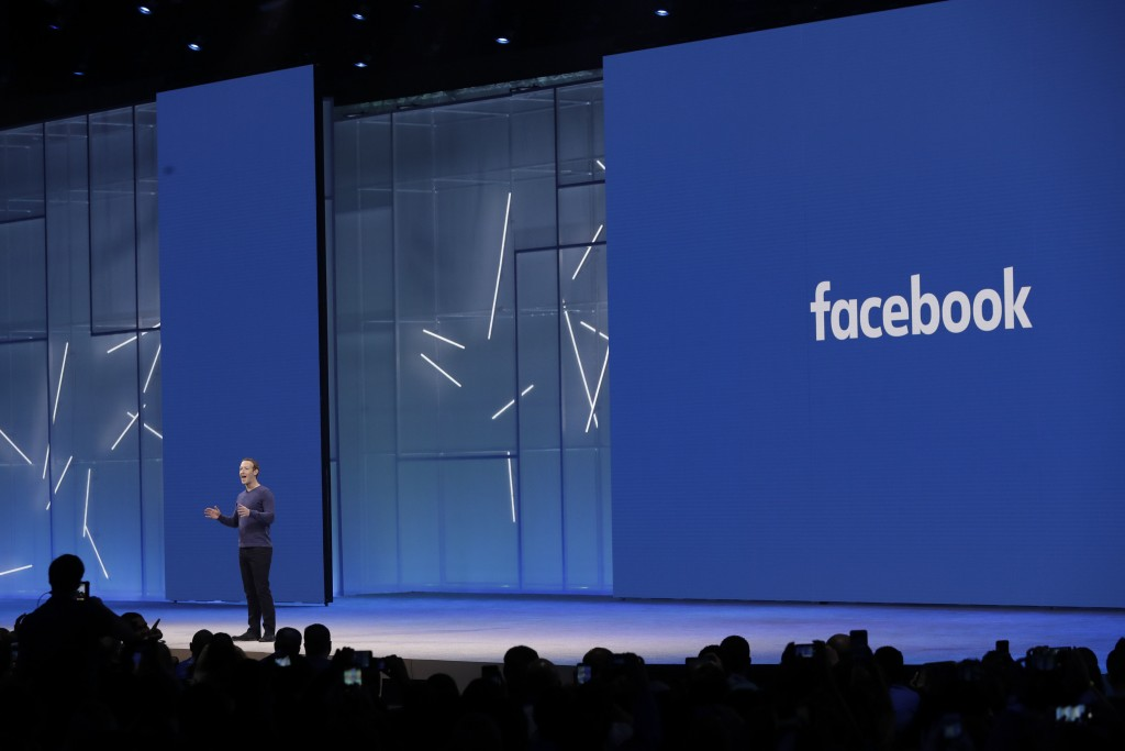 Facebook CEO Mark Zuckerberg makes the keynote address at F8, Facebook's developer conference, Tuesday, May 1, 2018, in San Jose, Calif. (AP Photo/Mar...