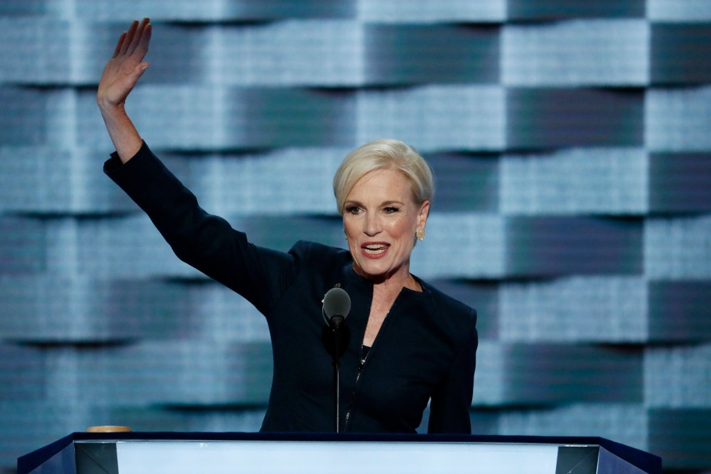 FILE - In this July 26, 2016 file photo, Planned Parenthood President Cecile Richards waves after speaking during the second day of the Democratic Nat...