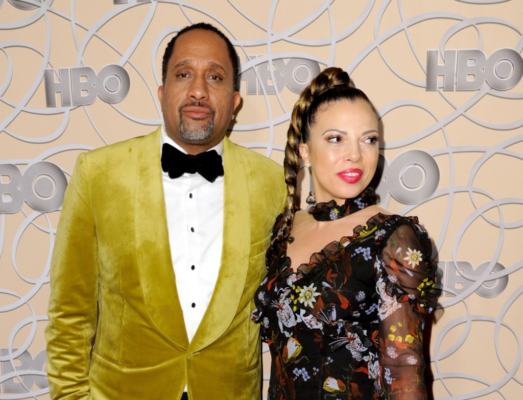 FILE - In this Jan. 8, 2017 file photo, Kenya Barris, left, and Dr. Rainbow Edwards-Barris arrive at the HBO Golden Globes afterparty in Beverly Hills...