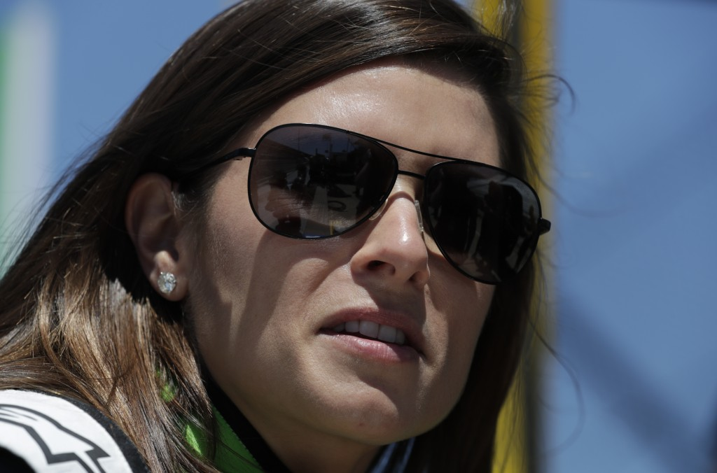 IndyCar driver Danica Patrick waits to drive her refresher test at the Indianapolis Motor Speedway in Indianapolis, Tuesday, May 1, 2018. (AP Photo/Mi...