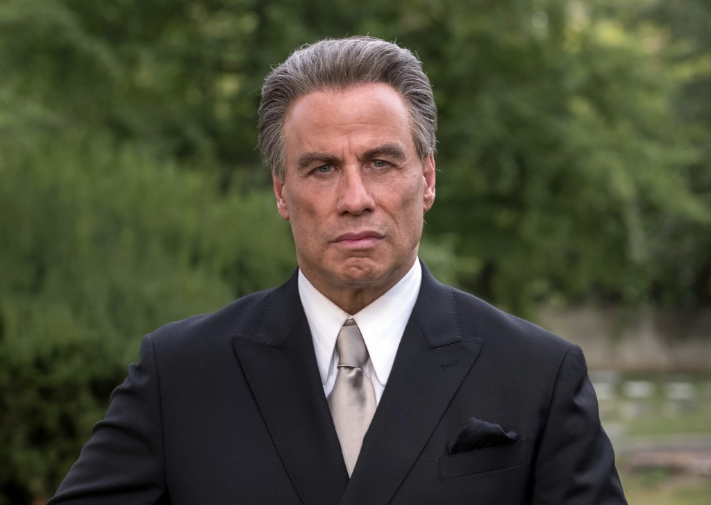 """This image released by Vertical Entertainment shows John Travolta as John Gotti from the mobster biopic """"Gotti."""" The film will premiere at Cannes as a..."""