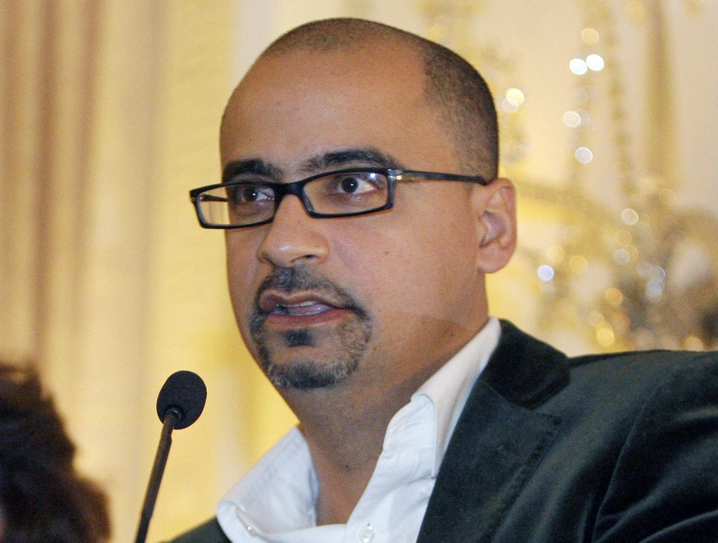 FILE - This Oct. 17, 2008, file photo shows novelist Junot Diaz during a book presentation in New York. Diaz is facing allegations of sexual misconduc...