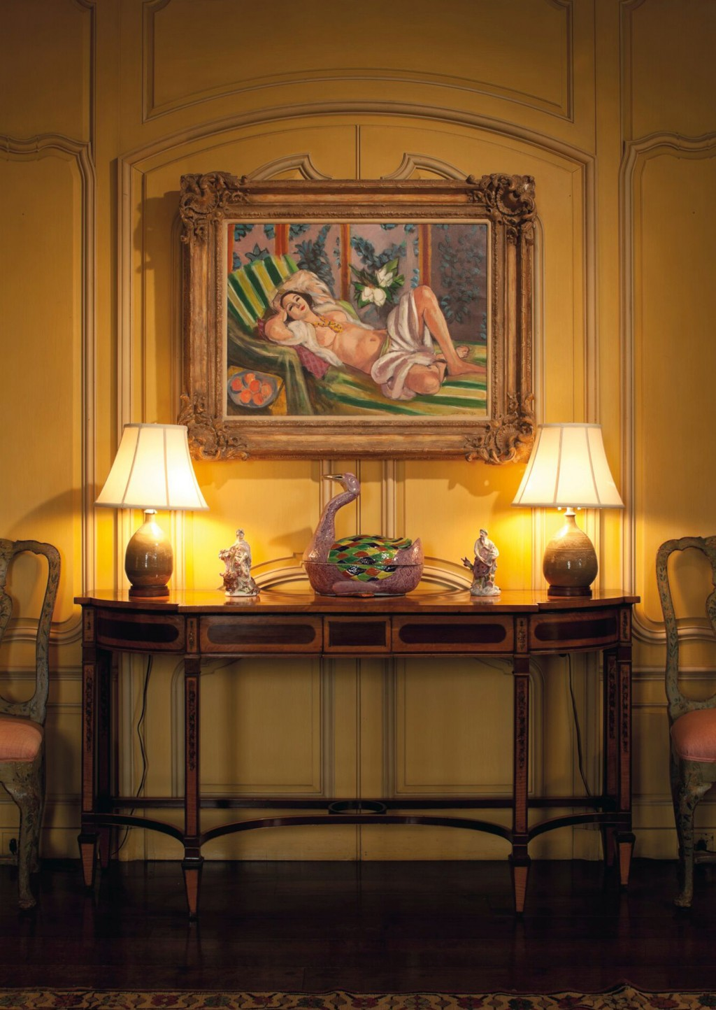 """This image provided by Christie's Images Ltd. 2018, shows Henri Matisse's """"Odalisque couchée aux magnolias,"""" hanging in the Hudson Pines residence of ..."""