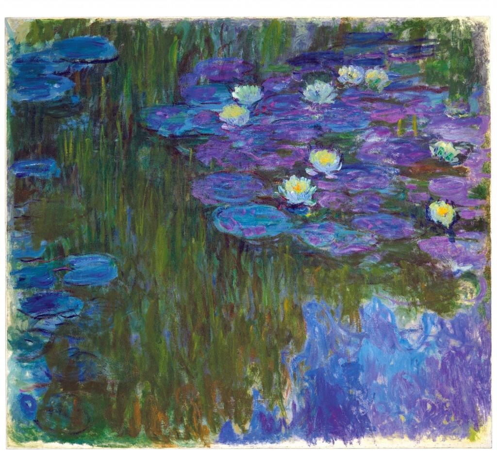 "This photo provided by Christie's Images Ltd. 2018 shows Claude Monet's, ""Nymphéas en fleur,"" (""Flowering Water Lilies"") painted 1914-1917. The painti..."