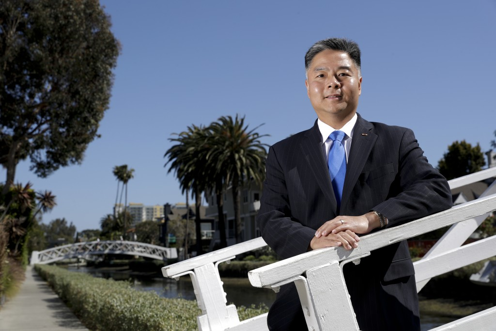 In this Thursday, May 3, 2018, photo, U.S. Rep. Ted Lieu, D-California, poses for a picture in the Venice community of Los Angeles. Members of the Asi...