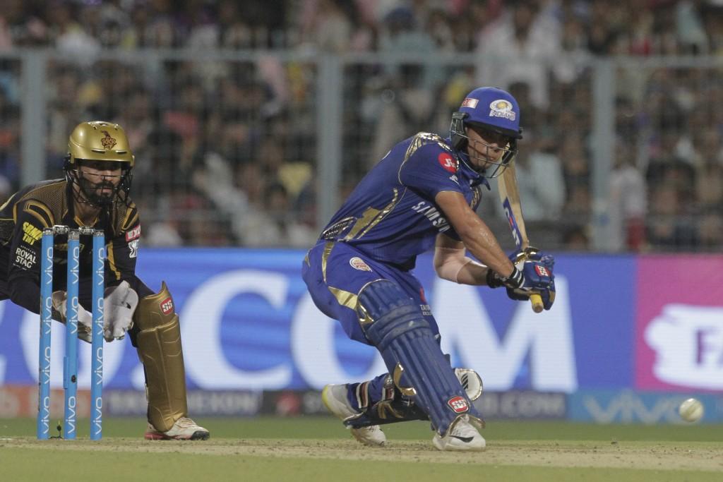 Mumbai Indians' Ishan Kishan bats during the VIVO IPL cricket T20 match against Kolkata Knight Riders in Kolkata, India, Wednesday, May 9, 2018. (AP P