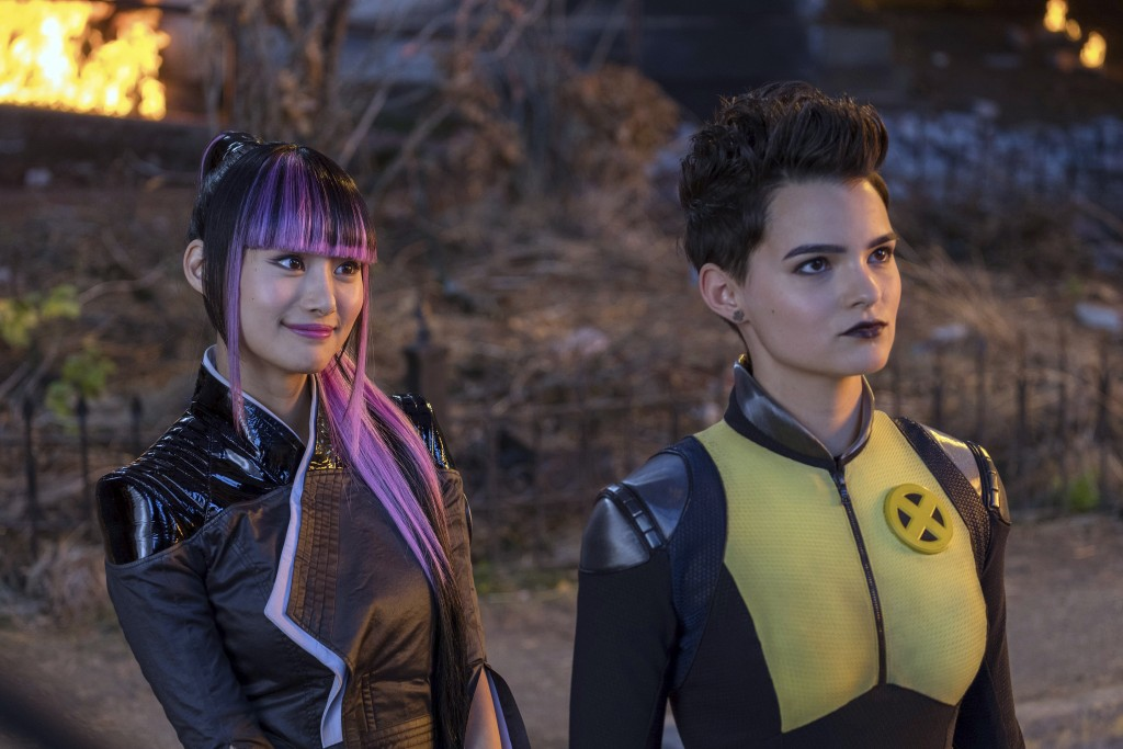 "This image released by Twentieth Century Fox shows Shioli Kutsuna, left, and Brianna Hildebrand in a scene from ""Deadpool 2."" (Joe Lederer/Twentieth C"