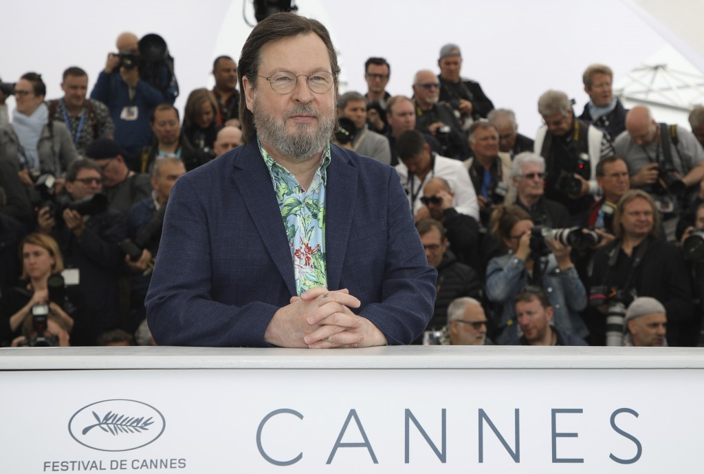 Director Lars von Trier poses for photographers during a photo call for the film 'The House That Jack Built' at the 71st international film festival,
