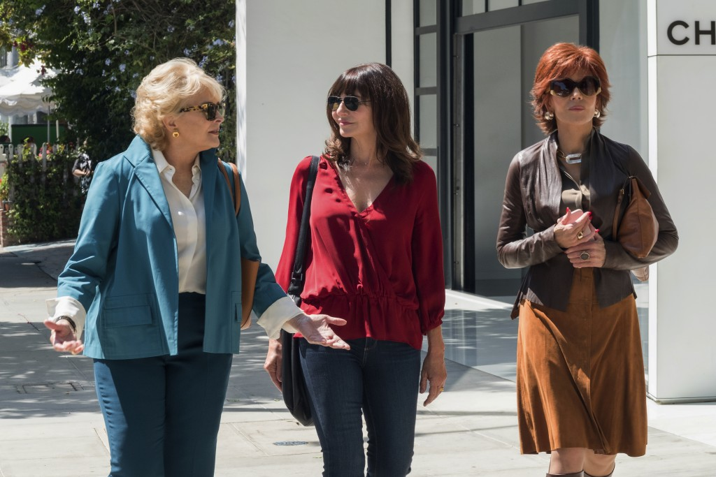 """This image released by Paramount Pictures shows Candice Bergen, from left, Mary Steenburgen and Jane Fonda in a scene from """"Book Club."""" (Melinda Sue G"""