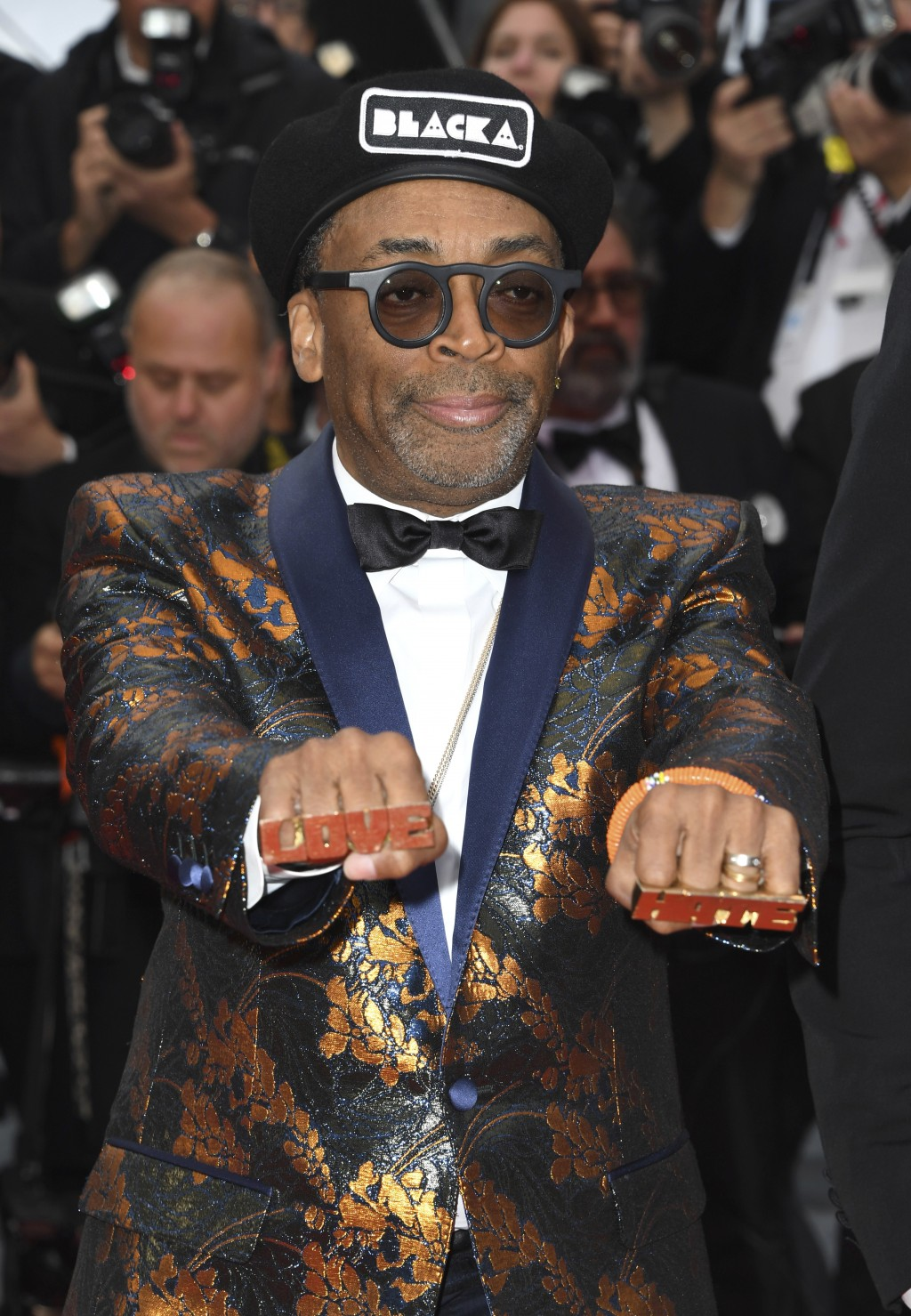7b15a85a36824 Director Spike Lee poses for photographers upon arrival at the premiere of  the film  BlacKkKlansman