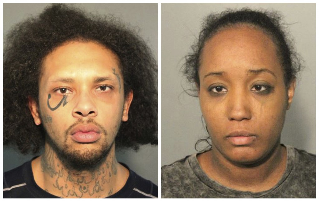 This photo combo of booking mugs provided by the Solano County Sheriff's Office in Fairfield, Calif., shows Jonathan Allen and his wife, Ina Rogers. P