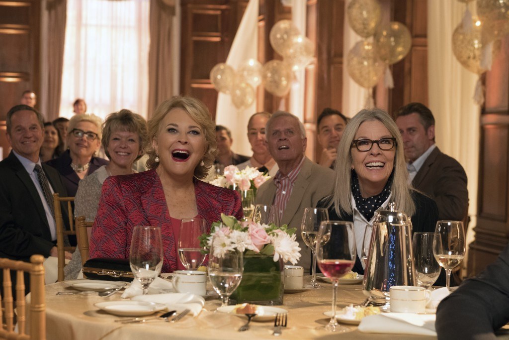 """This image released by Paramount Pictures shows Candice Bergen, left, and Diane Keaton in a scene from """"Book Club."""" (Melinda Sue Gordon/Paramount Pict"""