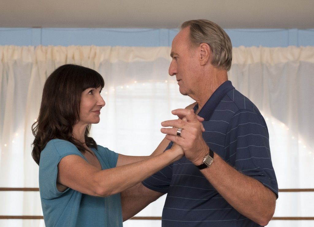 """This image released by Paramount Pictures shows Mary Steenburgen, left, and Craig T. Nelson in a scene from """"Book Club."""" (Melinda Sue Gordon/Paramount"""