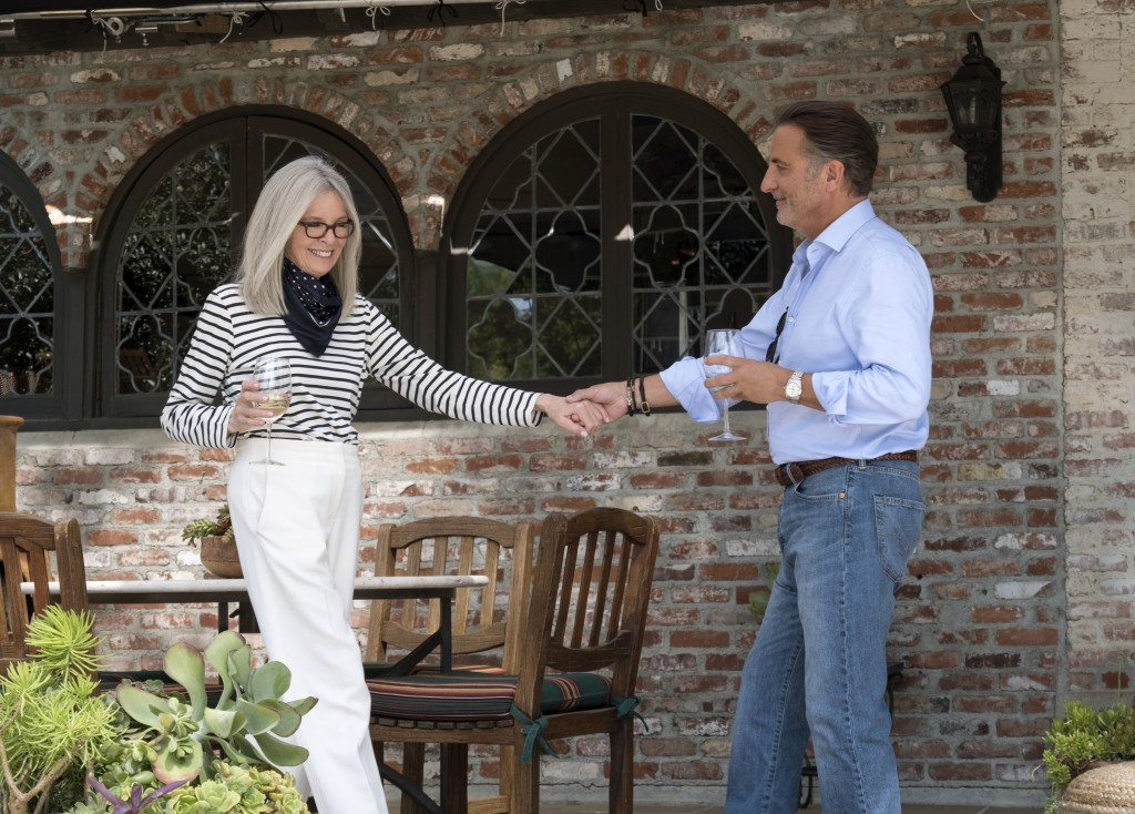 """This image released by Paramount Pictures shows Diane Keaton, left, and Andy Garcia in a scene from """"Book Club."""" (Melinda Sue Gordon/Paramount Picture"""