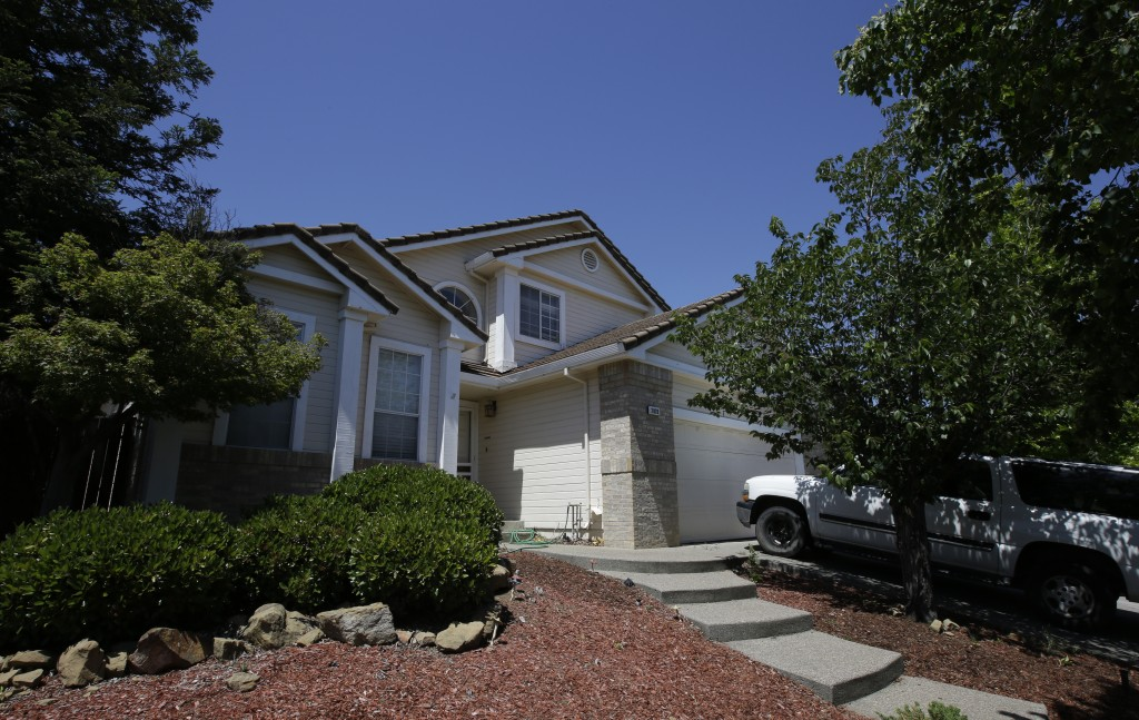 The home of Ina Rogers and her husband, Jonathan Allen, is seen Monday, May 14, 2018, in Fairfield, Calif. Authorities removed the 10 children living