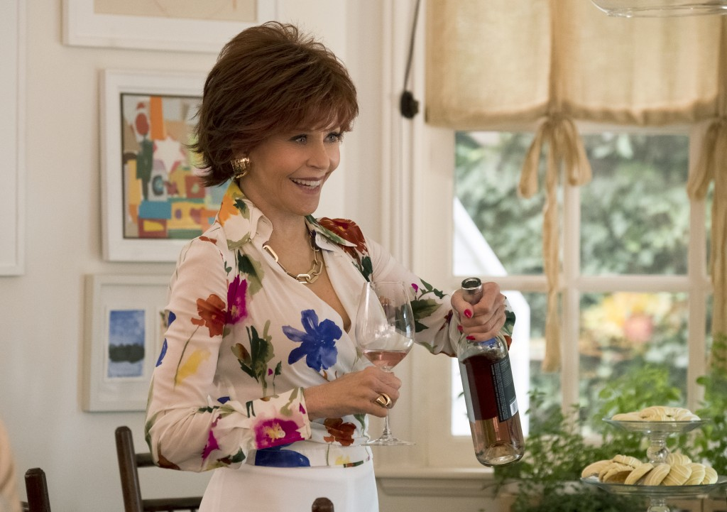 """This image released by Paramount Pictures shows Jane Fonda in a scene from """"Book Club."""" (Melinda Sue Gordon/Paramount Pictures via AP)"""