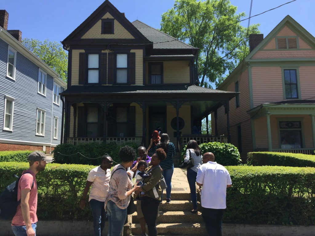 This April 29, 2018 photo shows the house in Atlanta where Martin Luther King, Jr. was born and lived until the age of 12. Nearby attractions include