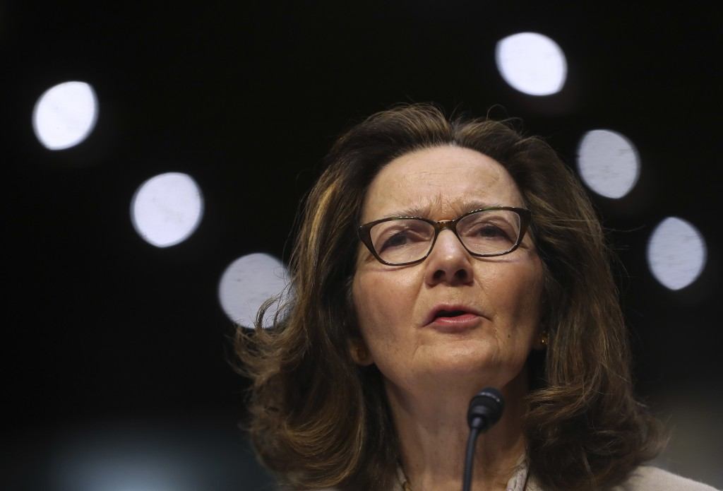 In this May 9, 2018 photo, CIA nominee Gina Haspel testifies during a confirmation hearing of the Senate Intelligence Committee, on Capitol Hill in Wa
