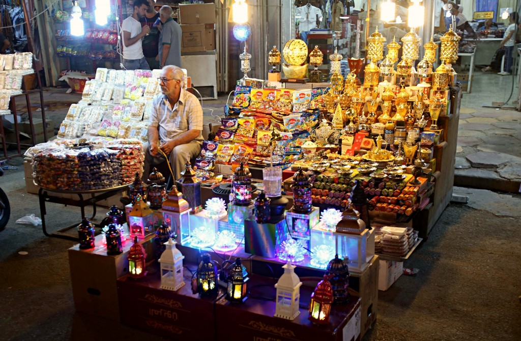 A street vender sells traditional Ramadan items in Baghdad, Iraq, Wednesday, May 16, 2018. Muslims throughout the world are preparing to celebrate Ram...