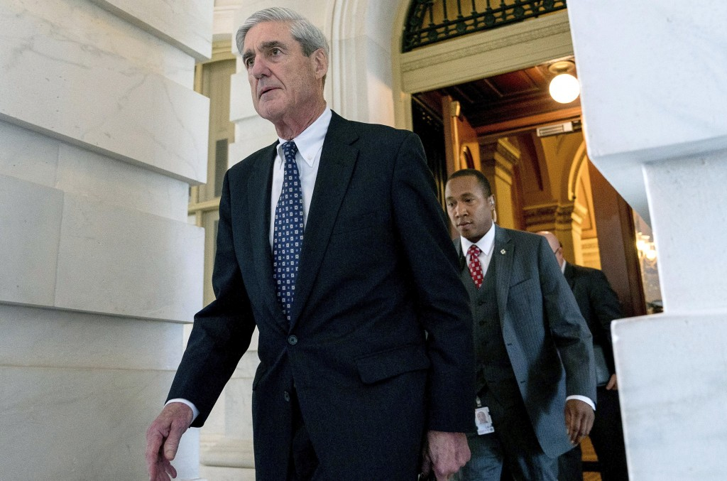 FILE - In this June 21, 2017, file photo, former FBI Director Robert Mueller, the special counsel probing Russian interference in the 2016 election, d...