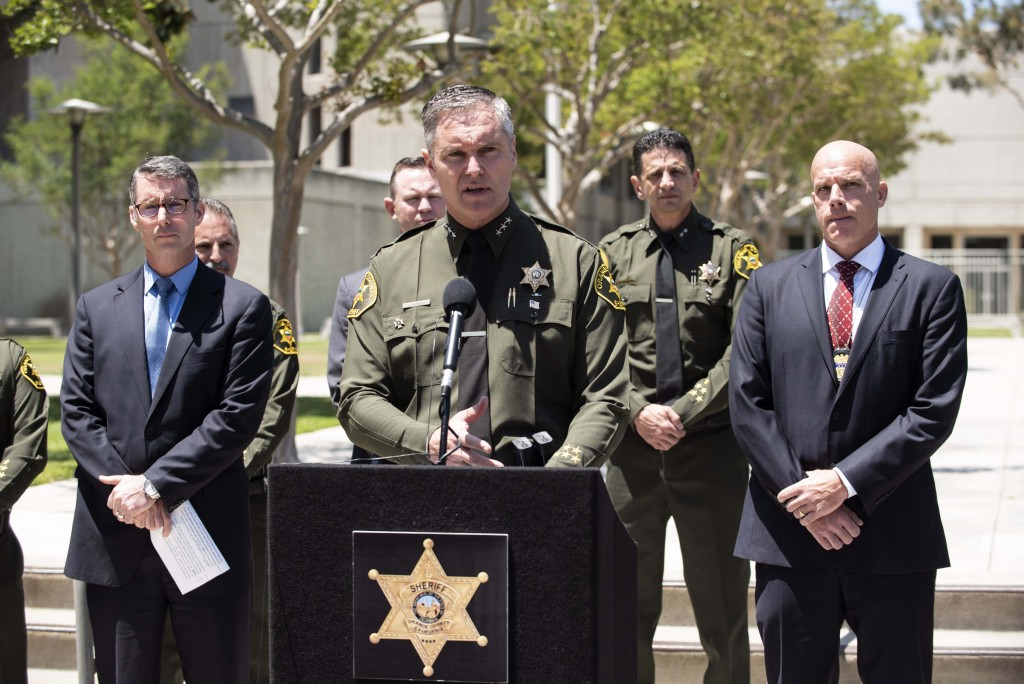 Orange County Undersheriff Don Barnes speaks to the media on Wednesday, May 16, 2018, at Orange County Sheriff's headquarters in Santa Ana, Calif., re