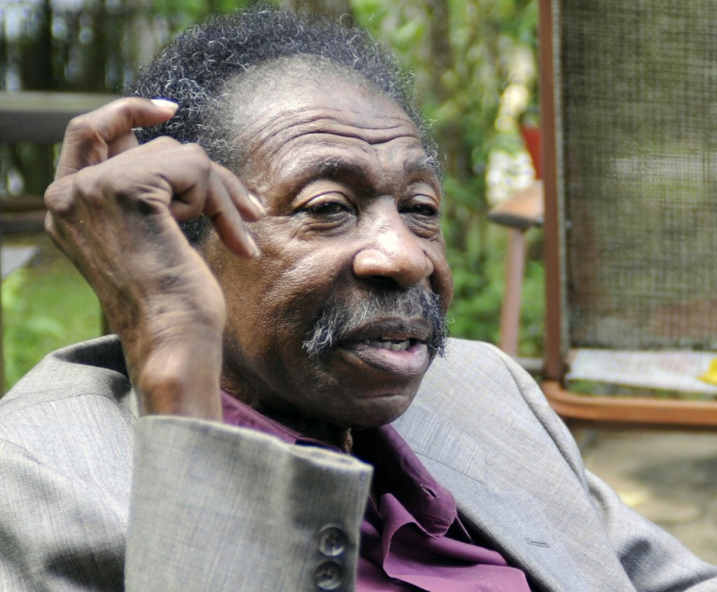 In this Thursday, May 3, 2018 photo, Bruce Carver Boynton, whose arrest for sitting in the white section of a segregated bus station restaurant in 195