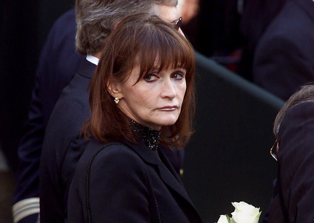 FILE - In this Oct. 3, 2000 file photo, actress Margot Kidder, who dated former Prime Minister Pierre Trudeau, arrives for his funeral at Notre-Dame B