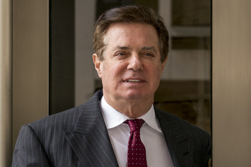 FILE - In this April 4, 2018, file photo, Paul Manafort, President Donald Trump's former campaign chairman, leaves the federal courthouse in Washingto