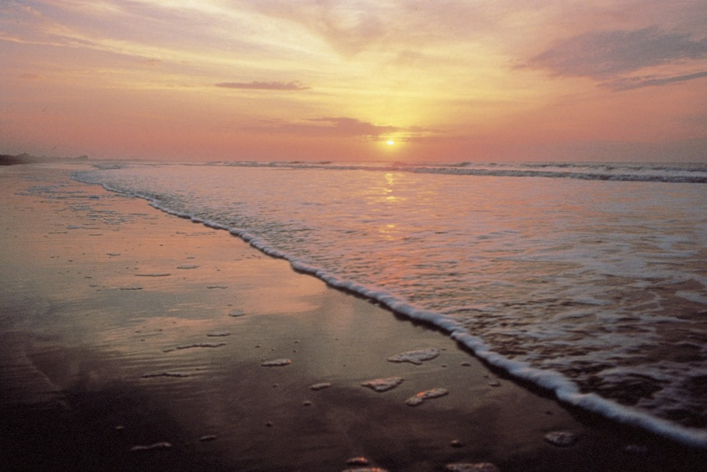 This undated photo provided by the Kiawah Island Golf Resort shows sunrise as seen from Beachwalker Park, Kiawah Island, South Carolina. Beachwalker i...