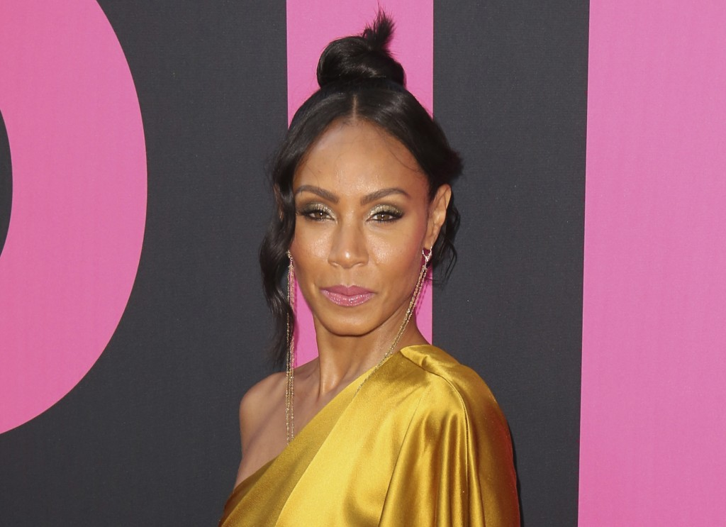 "FILE - In this July 13, 2017 file photo, Jada Pinkett Smith arrives at the world premiere of ""Girls Trip"" in Los Angeles. Pinkett Smith hosts a multi-"