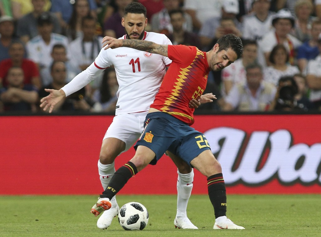 Lacklustre Spain sneak past Tunisia in warm-up match