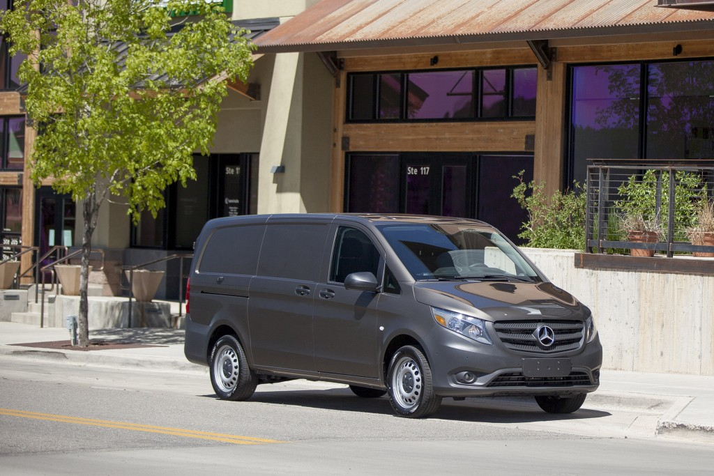 This undated photo provided by Mercedes-Benz shows the 2018 Mercedes-Benz Metris, an example of a small cargo van. Mercedes-Benz is known the world ov