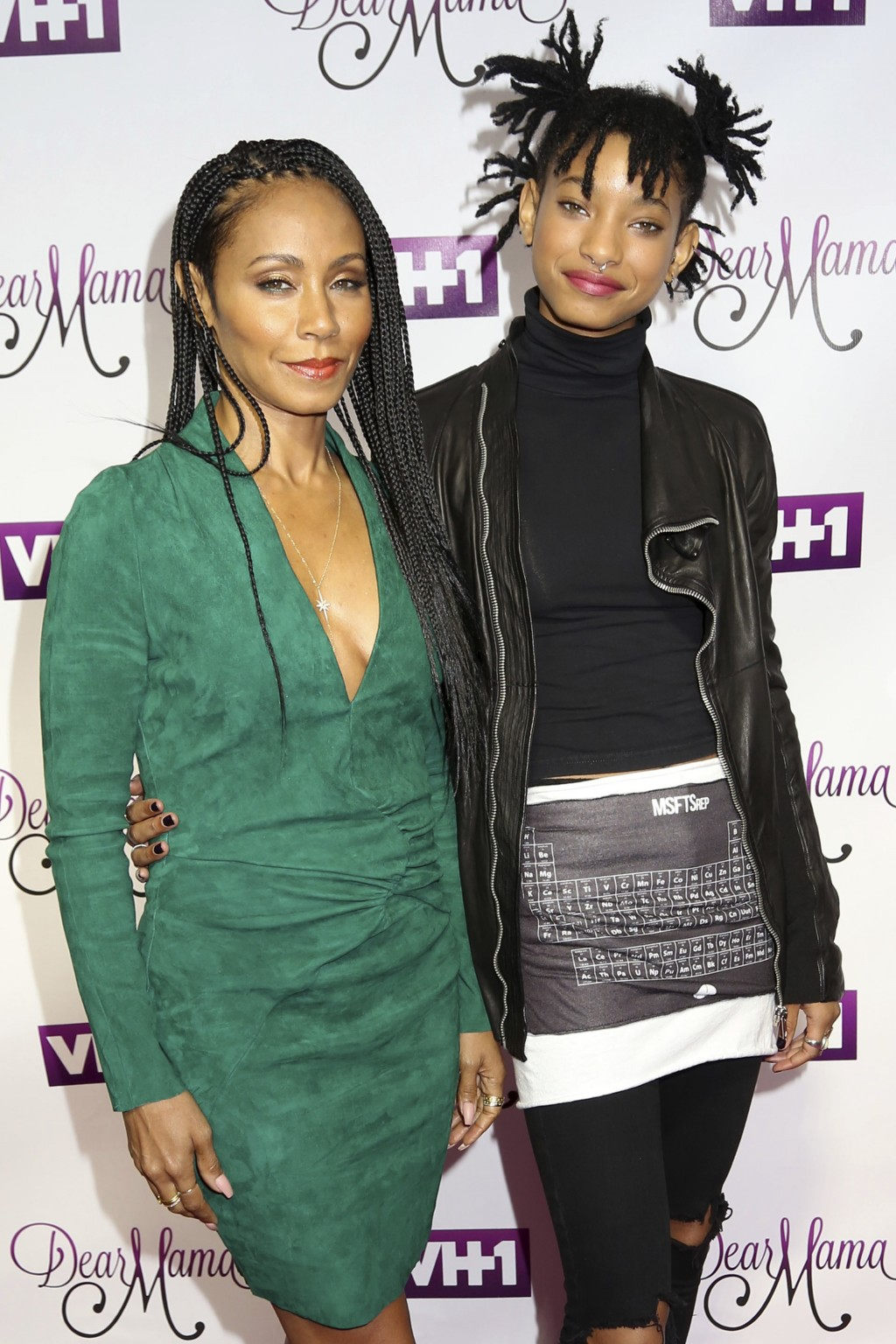 "FILE - In this May 3, 2016 file photo, Jada Pinkett Smith, left, and her daughter Willow Smith attend VH1's ""Dear Mama"" Mother's Day Special taping in"