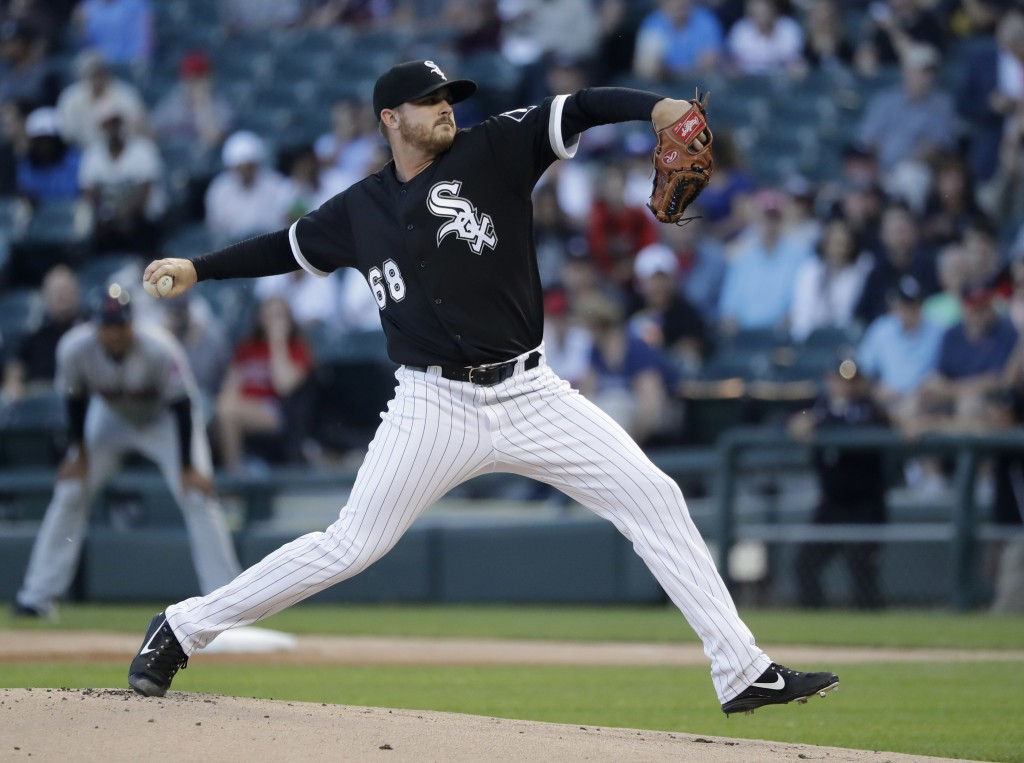 Chicago White Sox starting pitcher Dylan Covey delivers during the first inning of the team's baseball game against the Cleveland Indians on Wednesday