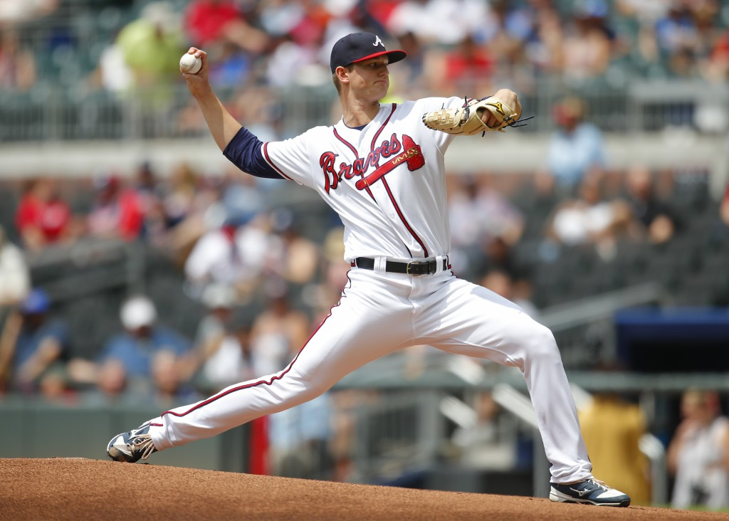 Atlanta Braves starting pitcher Michael Soroka delivers in the first inning of a baseball game against the New York Mets, Wednesday, June 13, 2018, in