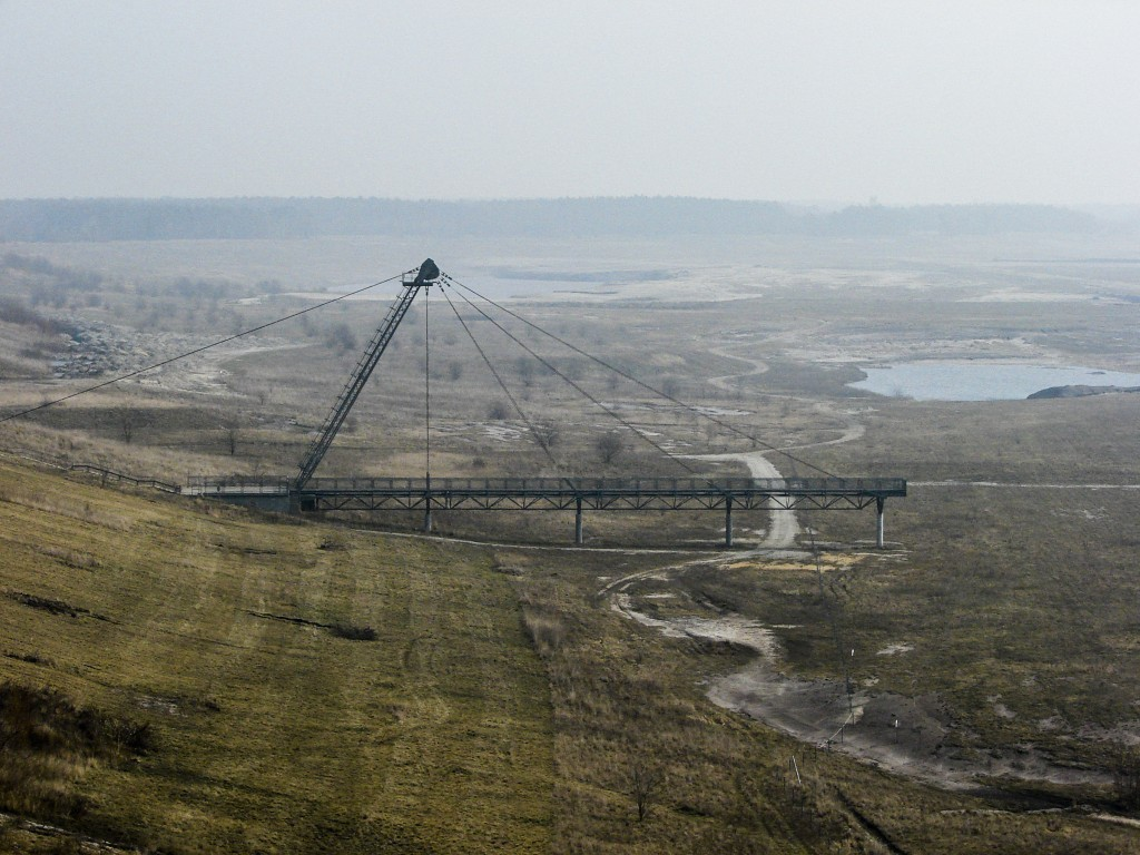 In this March 27, 2012 photo, the area of the lake Grossraeschen See a former lignite coal pit, are under preparation for flooding in the Lusatia (Lau