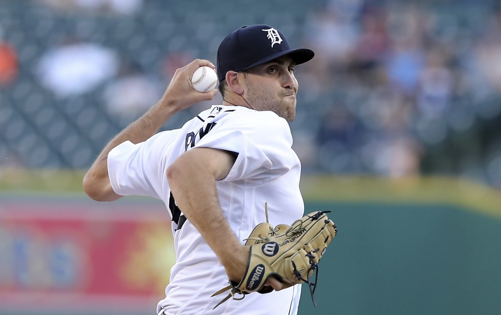 Detroit Tigers starting pitcher Matthew Boyd throws during the second inning of a baseball game against the Minnesota Twins, Wednesday, June 13, 2018,